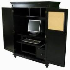 Black Computer Armoire American Home Office Collection
