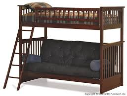Bunk Bed With Futon On Bottom Atlantic Furniture Columbia Futon Bunk Bed