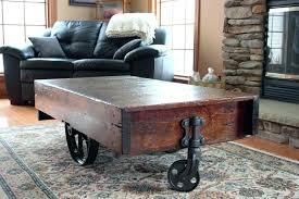 railroad cart coffee table industrial railroad cart coffee table vintage industrial coffee