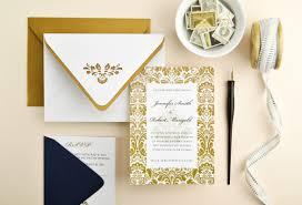 damask wedding invitations navy gold damask wedding invitation cards pockets