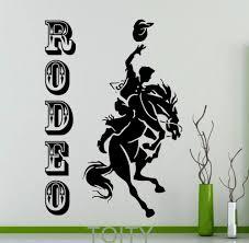 online get cheap western horse wall murals aliexpress com rodeo poster retro wall sticker cowboy horse vinyl decal home interior decoration wild western art mural