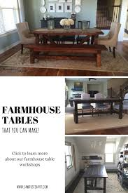 the solid wood farmhouse dining room table is a sawdust savvy