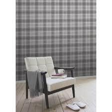 tartan wallpaper soft charcoal ilw980026 from henderson