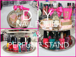 diy cute nail polish and perfume stand for cheap cute room