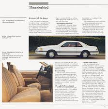 1987 ford thunderbird brochure