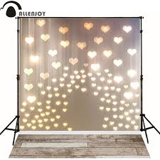 wedding backdrop board allenjoy photo background golden hearts lights wood board for