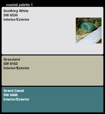 coastal paint color palette u2013 sherwin williams white creamy green
