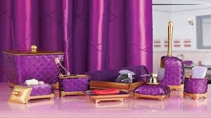 purple and gold bathroom accessories home realie