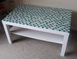 ikea coffee table reno with backsplash tiles genius but maybe