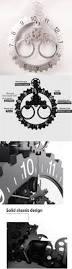 Buy Clock by Wall Clocks 20561 Techtongda Wheel Hour Wall Clock Silver