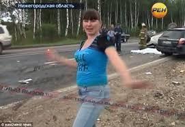 video shameful russian car passenger filmed dancing and posing
