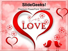 red love heart abstract powerpoint templates and powerpoint themes