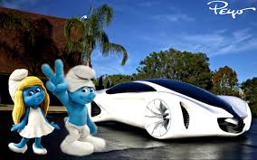 future cars image smurfette and clumsy presents the new future flying cars