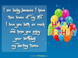 happy birthday wishes for twins occasions messages