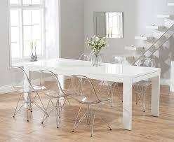 High Gloss Extending Dining Table Venice 200cm White High Gloss Extending Dining Table With Charles
