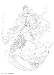 barbie pearl princess girls coloring pages