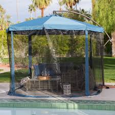 Netting For Patio by Coral Coast 11 Ft Steel Offset Patio Umbrella With Detachable