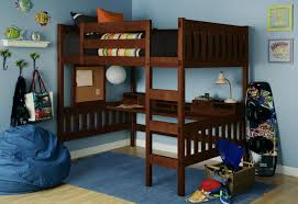 functional full size loft bed with desk ideas laluz nyc home design