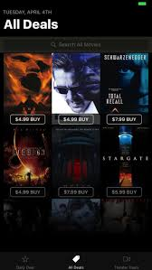movie deals daily on the app store