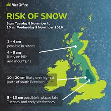 yellow warning for snow for parts of the uk met office