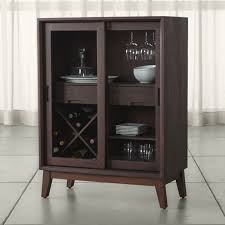 Small Bar Cabinet Steppe Bar Cabinet Crate And Barrel Small Drawers Walnut