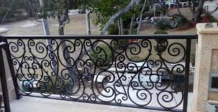 stainless steel cable glass and ornamental metal balcony