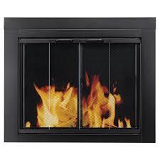 shop pleasant hearth ascot black small bi fold fireplace doors