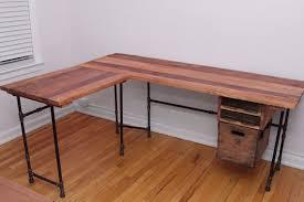reclaimed wood l shaped desk the elle desk reclaimed wood l shaped desk wood office desk with