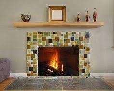Mosaic Tile Fireplace Surround by Glass Mosaic Fireplace Accent Fabulous Fireplaces Pinterest