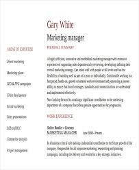 Marketing Communications Manager Resume 48 Simple Marketing Resumes Free U0026 Premium Templates