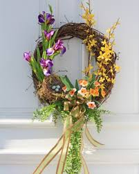 springtime wreaths springtime door decor