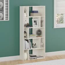 White Open Bookcase Amazon Com Ameriwood Home Transform Expandable Bookcase White