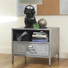 Metal Locker Nightstand Galvanized Metal Furniture For A Room Nightstand