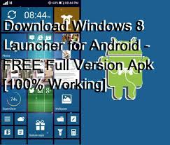 Download Windows 8 Launcher For Android Free Full Version Apk