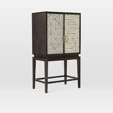 Metal Bar Cabinet Bone Inlaid Bar Cabinet West Elm