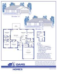 Air Force One Layout Floor Plan Palm Bay Adams Homes