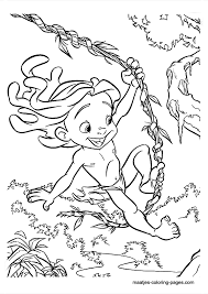 young tarzan coloring pages coloring