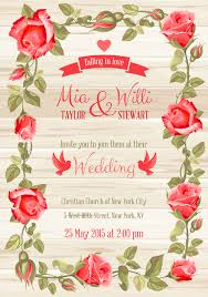 Weeding Cards Rose Frame With Wedding Cards Vector 03 Welovesolo
