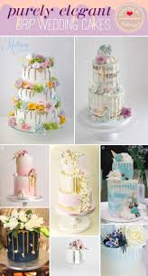 elegant drip wedding cakes perfect for summer weddings