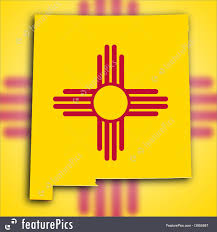 New Mexico State Map by Picture Of Map Flag Of New Mexico
