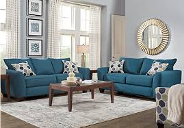 blue livingroom bonita springs 7 pc blue simple blue living room set home design