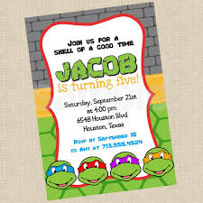 printable birthday cards with turtles printable diy ninja turtles inspired invitations party invite