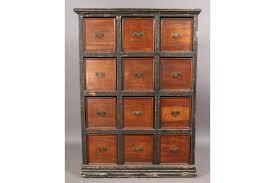 Antique Storage Cabinet Vintage Multidrawer Storage Cabinet 12 Drawers