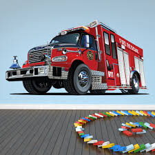 28 fire engine wall stickers firetruck printed wall decal fire engine wall stickers red fire truck fire engine kids colour wall stickers
