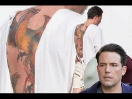 ben affleck reveals huge phoenix tattoo covering his whole back
