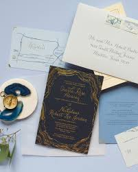 navy and gold foil agate inspired wedding invitations