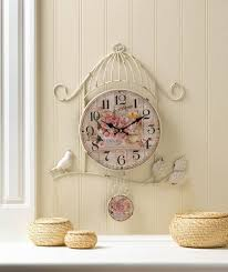 birdcage country rose wall clock wholesale at koehler home decor