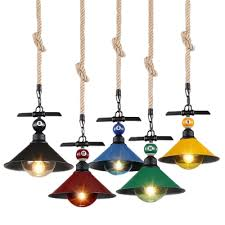 Pendant Light Cord Industrial Hanging Pendant Light Color Option With Metal Shade
