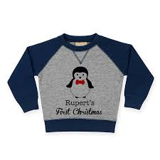 personalised children s penguin jumper by sparks