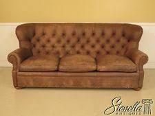 leather sofa with buttons tufted leather sofa ebay